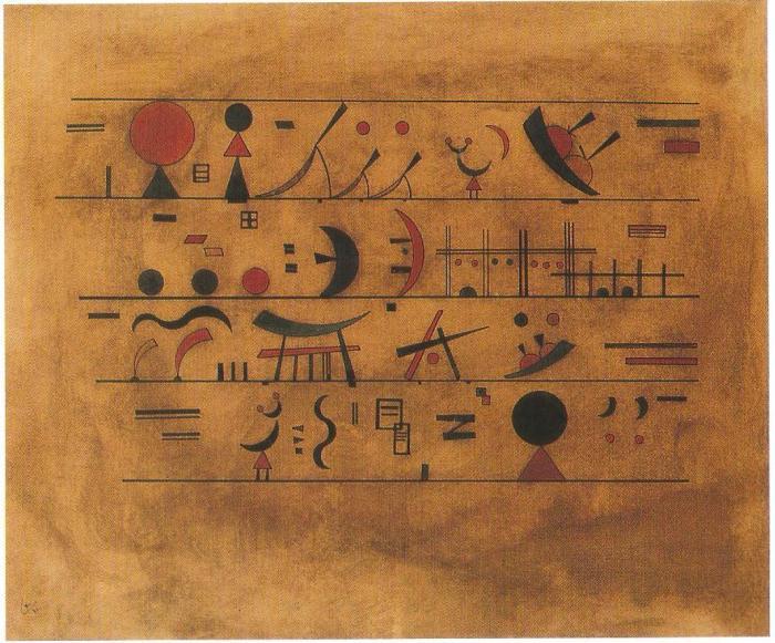 Kandinsky, Lignes de signes (1931)