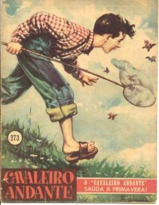 Capa de revista Cavaleiro Andante (nº 273, 1957).