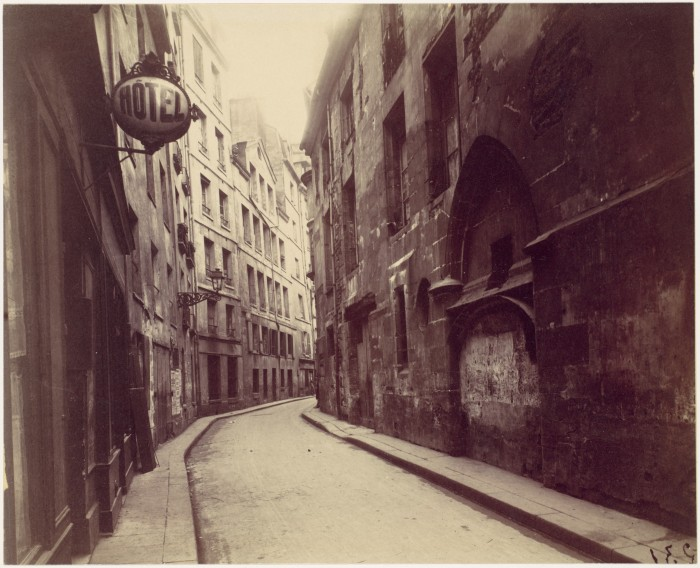 Eugène Atget, Hotel de Sens, rue de l'Hôtel de Ville, Paris (early 1900s).