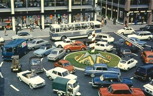 Jacques Tati, Still from Playtime (1967).