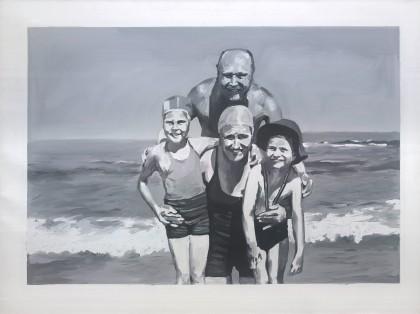 Gerhard Richter, Familie am Meer (1964).