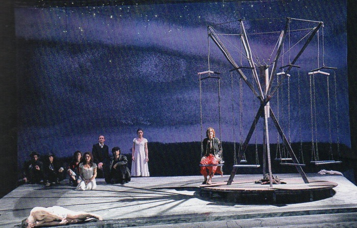 Scene from Heiner Müller's Quartet, directed by Robert Wilson.