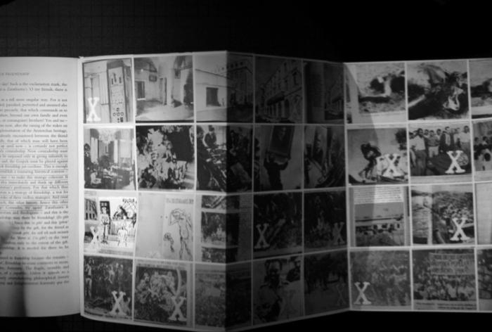 """Diaporama de imagens recolhidas nos arquivos anti-coloniais portugueses. O """"X"""" marca as fotografias que serão usadas no próximo filme da propaganda do MPLA."""