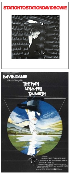 Capa de Station to Station (1975) e cartaz de The Man Who Fell To Earth (1976)