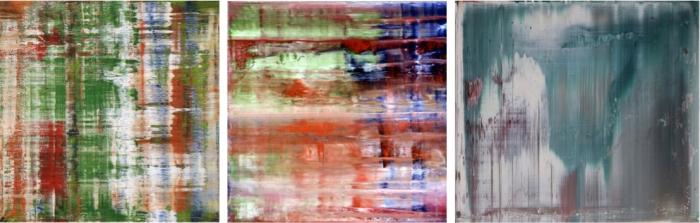 Abstraktes Bild (1993) / Bach (1992) / Abstraktes Bild (1993)