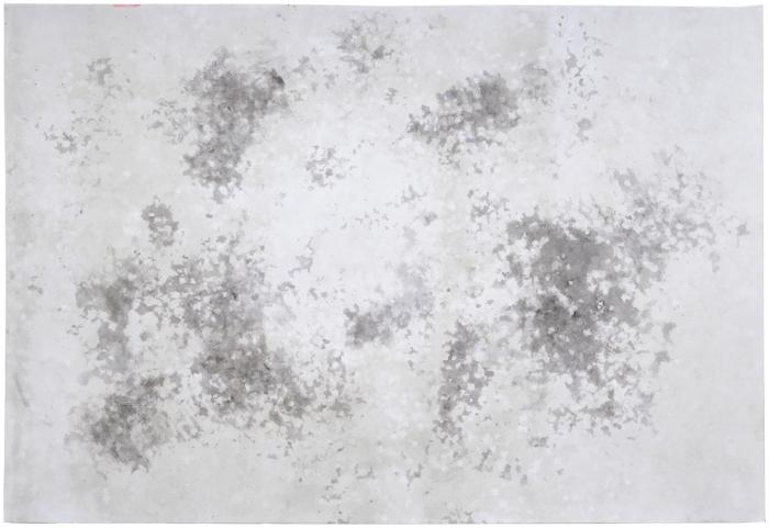 encre et confettis sur papier (0,7m x 0,5m)