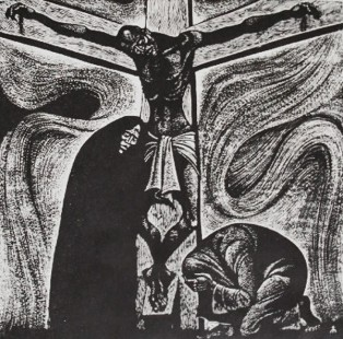 "FIGURA 138 - ""Black Crucifixion"", ilustração de Fritz Eichenberg"