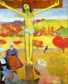 "FIGURA 151 - ""Yel­low Christ"", pintura de Paul Gau­guin (1889)"