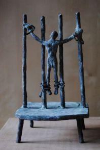"""FIGURA 238 - """"Crucifixion"""", escultura de Jacques Cassiman"""