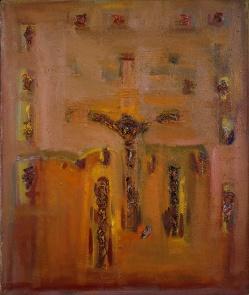 "FIGURA 241 - ""Crucifixion"", quadro de Porfirio DiDonna (1964)"