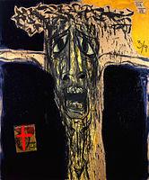"""FIGURA 242 - """"Crucifixion VII"""", quadro de Marcus Reichert (1991)"""