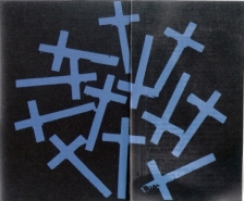 "FIGURA 47 - ""Blue Crosses"", pintura de Andy Warhol (1981-1982)"