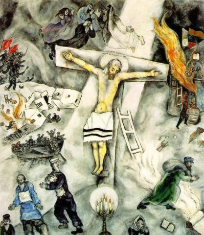 """FIGURA 73 - """"White Crucifixion"""", pintura de Marc Chagall (1938)"""