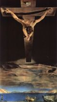 "FIGURA 78 - ""Christ of Saint John of the Cross"", pintura de Salvador Dalí (1951)"