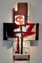 """FIGURA 80 - """"Crisis X"""", pintura de Jean-Michel Basquiat (1982)"""